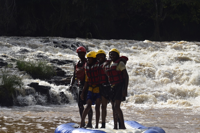 White water rafting at Rapids camp, Sagana.🚣